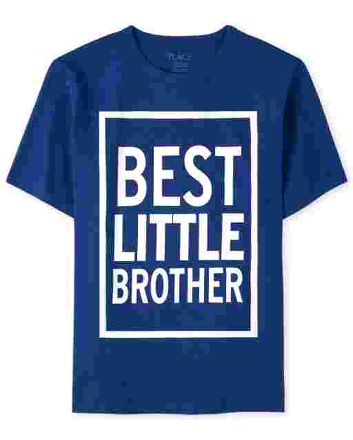 Boys Short Sleeve 'Best Little Brother' Graphic Tee