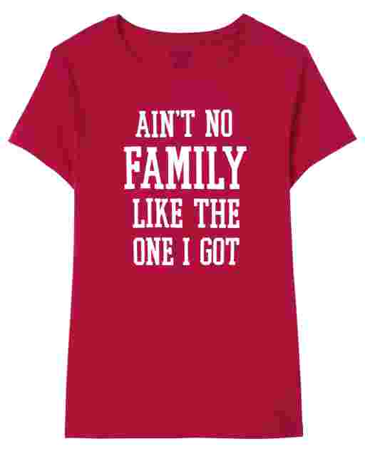 Womens Matching Family Valentine's Day Short Sleeve 'Ain't No Family Like The One I Got' Graphic Tee