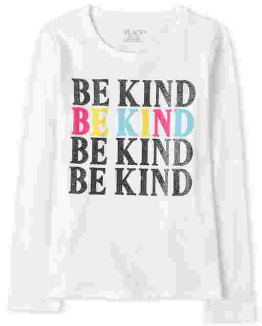 Camiseta estampada Girls Be Kind