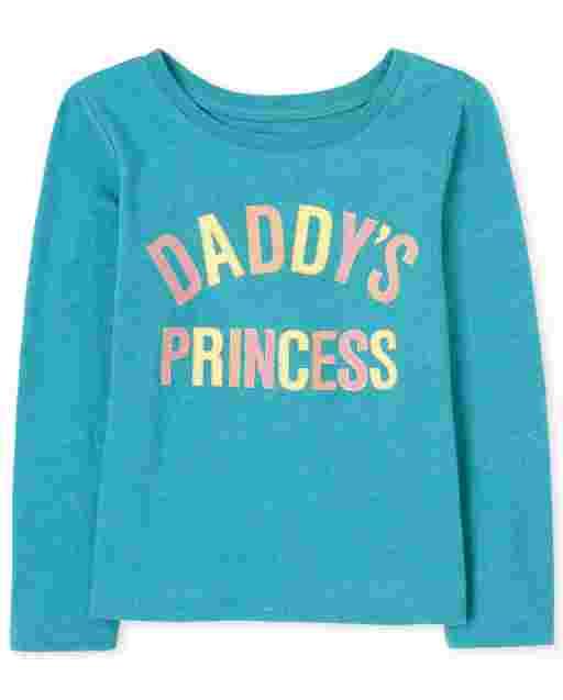 Camiseta estampada de princesa Daddy ' s para bebés y niñas pequeñas