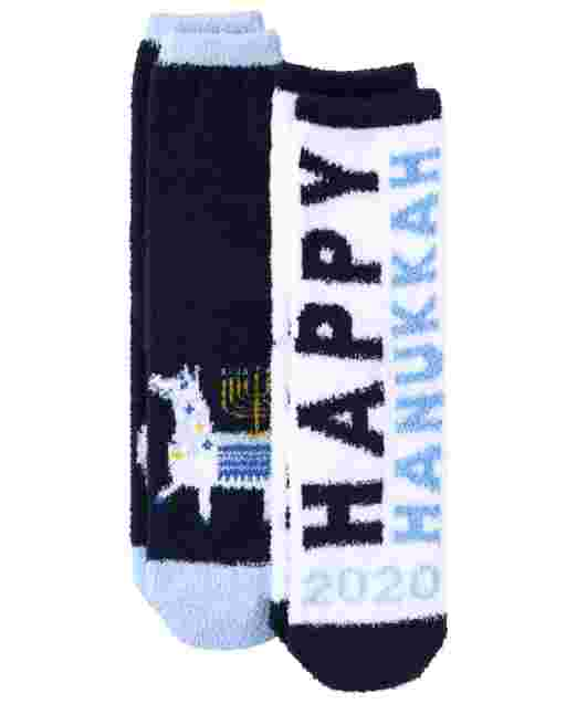 Unisex Kids Hanukkah Cozy Socks 2-Pack
