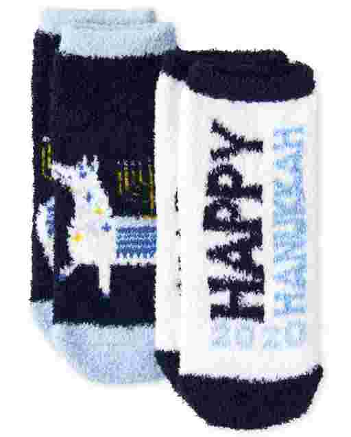 Unisex Toddler Hanukkah Cozy Socks 2-Pack