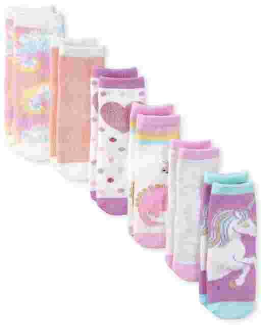Toddler Girls Dino Midi Socks 6-Pack