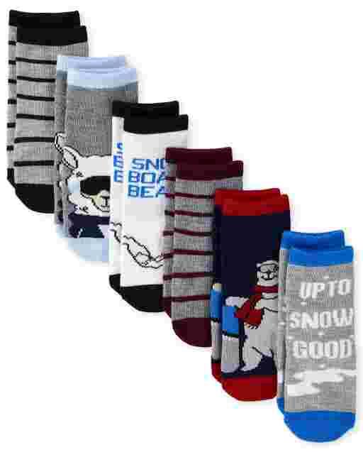 Toddler Boys Snow Midi Socks 6-Pack