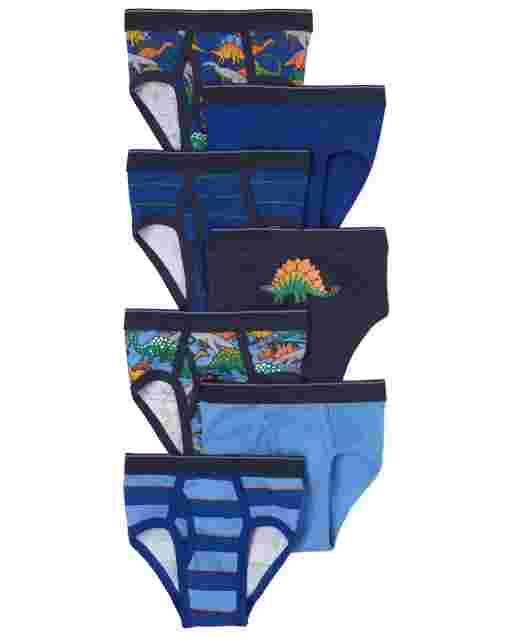 Toddler Boys Dino Briefs 7-Pack