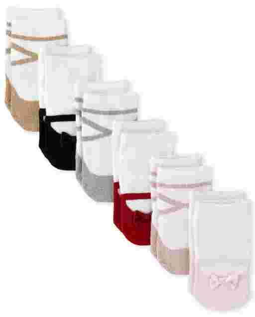 Baby Girls Shoe Midi Socks 6-Pack
