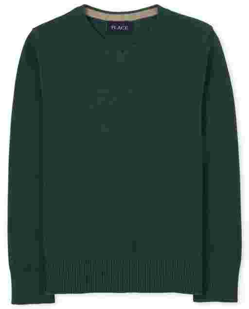 Suéter con cuello en V para niños