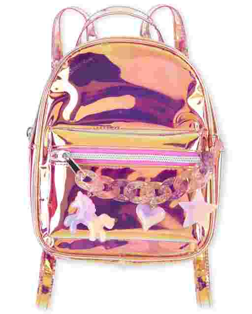 Girls Rainbow Chain Mini Backpack