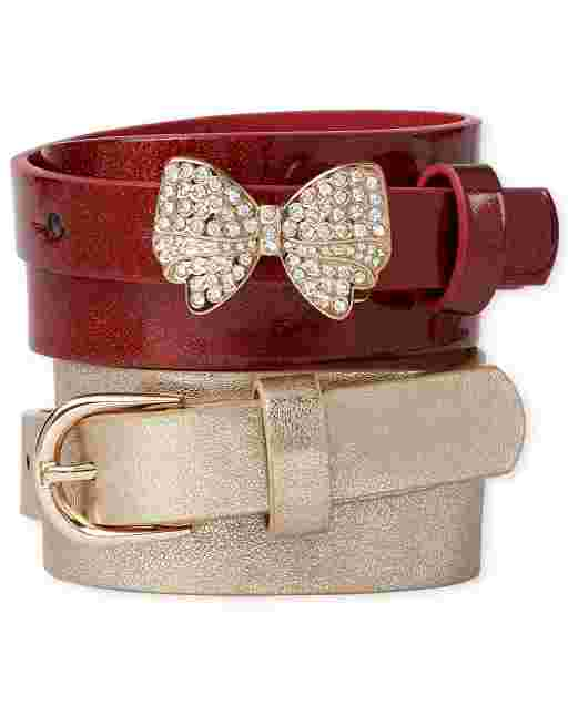 Girls Bow Belt 2-Pack