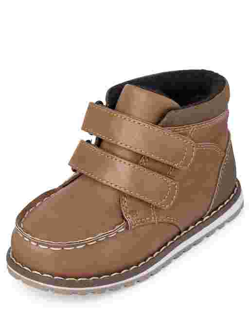 Toddler Boys Faux Suede Moccasin Boots