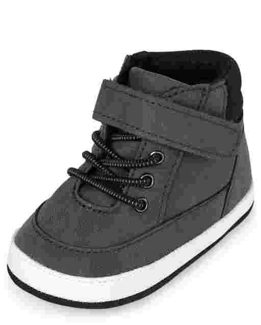 Baby Boys Nubuck Hi Top Sneakers