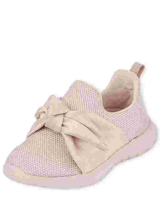 Toddler Girls Bow Pull On Sneakers