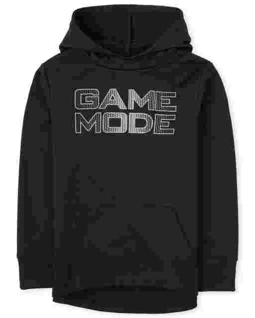 Boys Active Long Sleeve Graphic Performance Hoodie