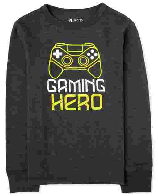 Boys Long Sleeve Graphic Thermal Top