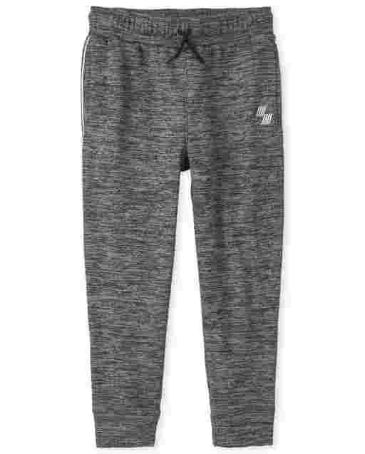 Pantalones deportivos de felpa con rayas laterales de malla PLACE para niños