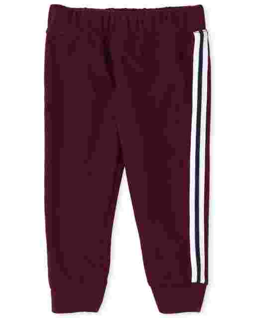 Baby And Toddler Boys Active Fleece Side Stripe Jogger Pants