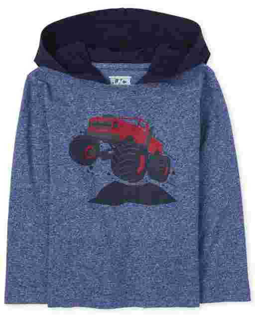 Toddler Boys Long Sleeve Graphic Hoodie Top