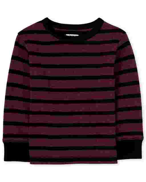 Toddler Boys Long Sleeve Striped Thermal Top