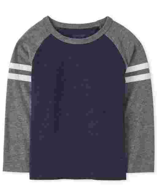 Toddler Boys Long Sleeve Colorblock Top