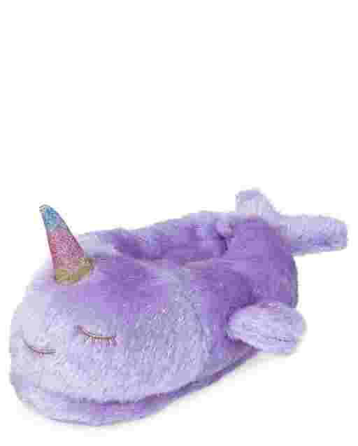 Girls Narwhal Slippers