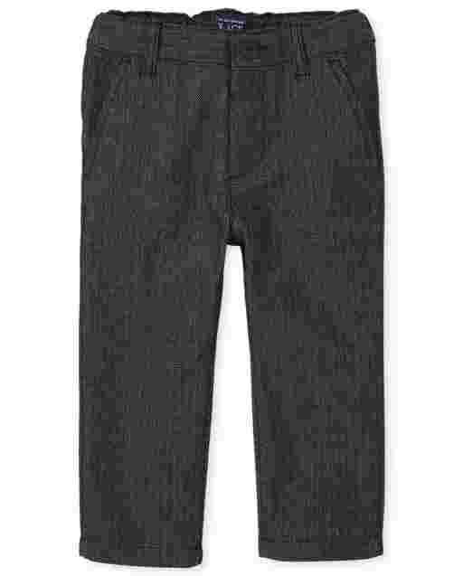 Toddler Boys Herringbone Woven Skinny Dress Pants