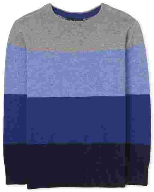 Boys Long Sleeve Colorblock Sweater