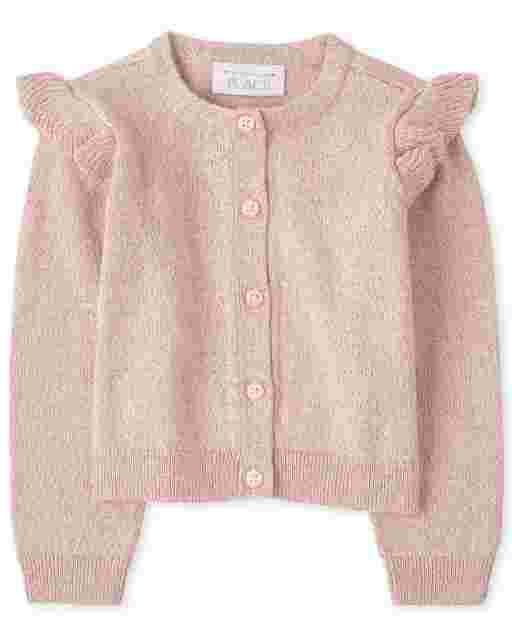 Toddler Girls Long Sleeve Ruffle Cardigan