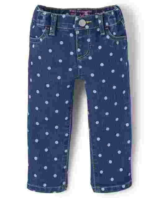 Baby And Toddler Girls Print Denim Jeggings