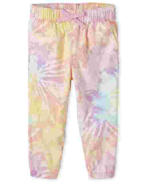 Baby And Toddler Girls Tie Dye Woven Pull On Beach Pants