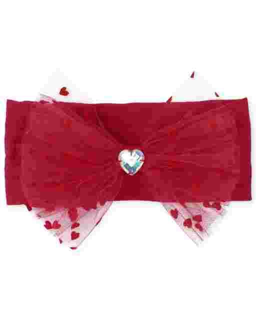 Baby Girls Valentine's Day Heart Bow Headwrap