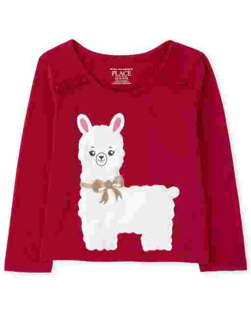Baby And Toddler Girls Long Sleeve Graphic Ruffle Top