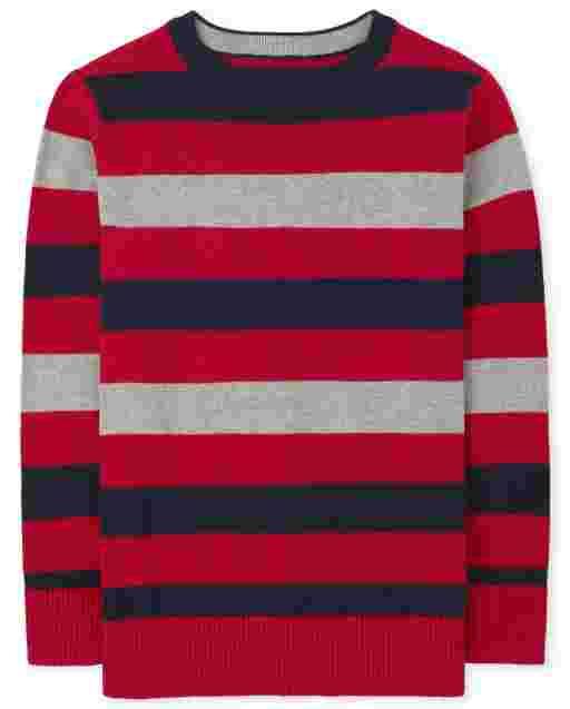 Suéter de rayas de manga larga para niños
