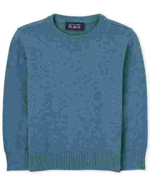 Toddler Boys Long Sleeve Crew Sweater