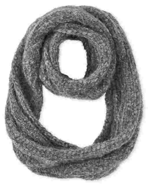 Bufanda Infinity de chenilla de punto trenzado para niñas