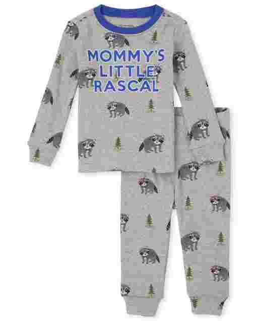 Pijama de algodón con ajuste ceñido para bebés y niños pequeños Little Rascal