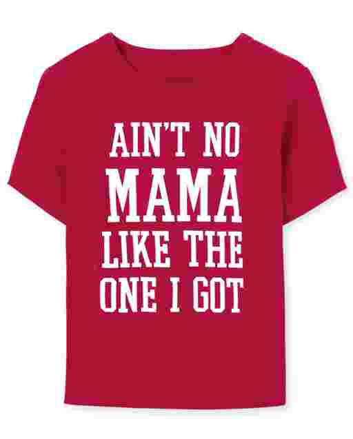 Baby And Toddler Boys Matching Family Valentine's Day Short Sleeve 'Ain't No Mama Like The One I Got' Graphic Tee