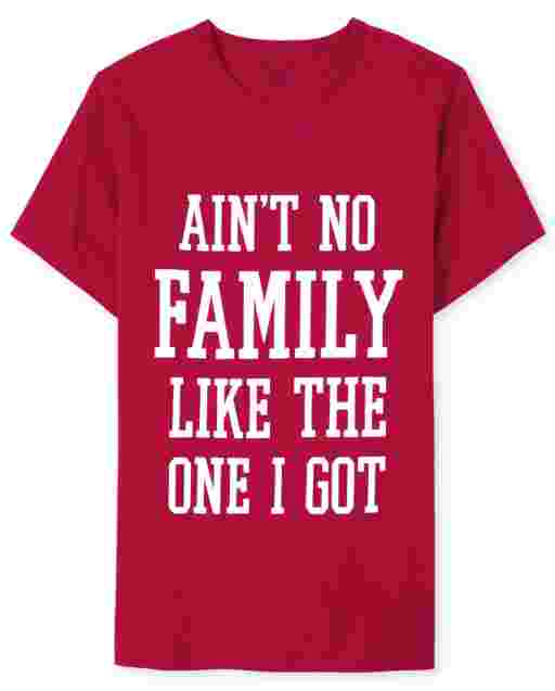 Mens Matching Family Valentine's Day Short Sleeve 'Ain't No Family Like The One I Got' Graphic Tee