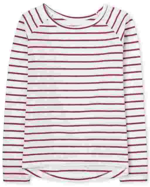 Girls Long Sleeve Striped Basic Layering Tee