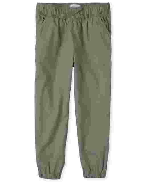 Girls Woven Pull On Jogger Pants