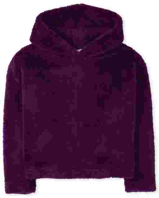 Girls Active Long Sleeve Sherpa Hoodie