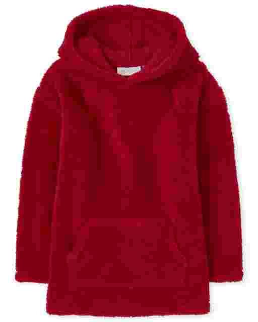 Girls Active Long Sleeve Sherpa Cozy Hoodie