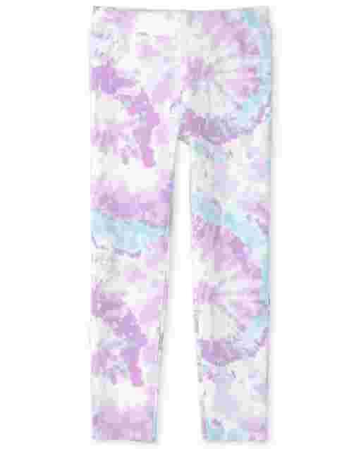 Girls Tie Dye Knit Perfect Ponte Leggings