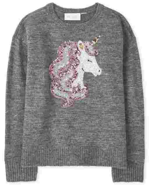 Suéter de intarsia para niñas