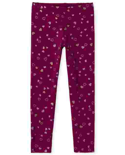 Girls Print Knit Leggings