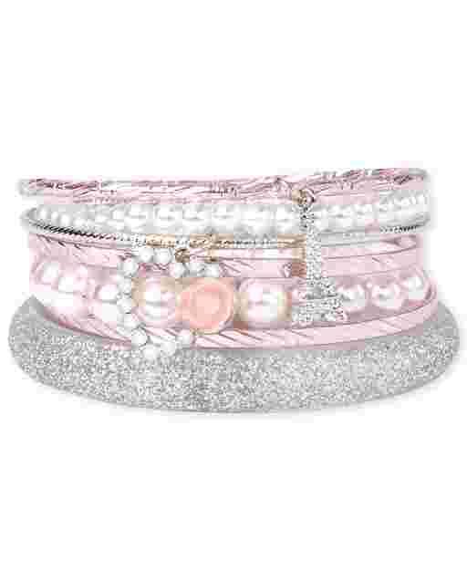 Paquete de 7 brazaletes Paris para niñas