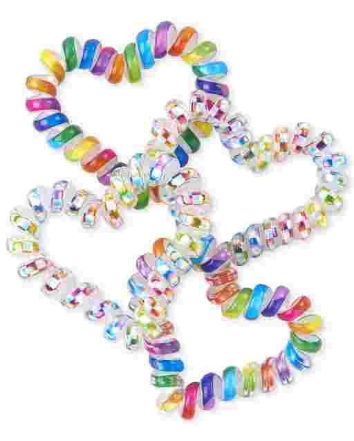 Paquete de 4 brazaletes de espiral para niñas
