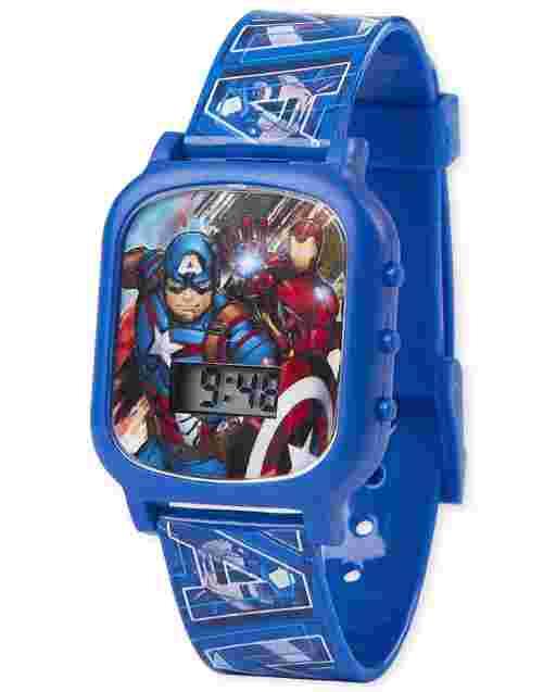 Boys Captain America And Iron Man Digital Watch