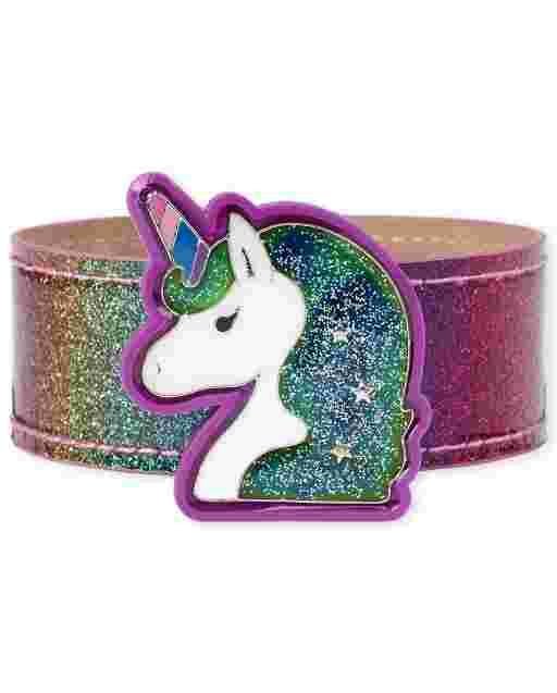 Girls Unicorn Mood Slap Bracelet