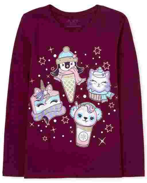 Camiseta con gráfico de comida mágica para niñas