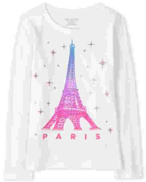 Camiseta estampada Paris para niñas